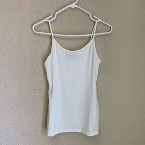 Gap women's white adjustable strap cami tank top